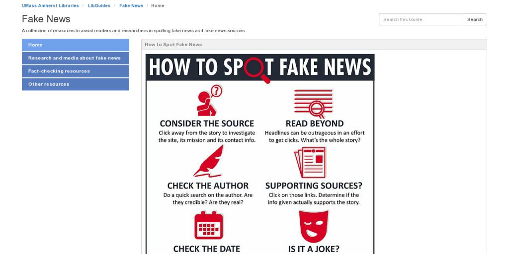 LibGuides: Fake News: Fact-checking resources